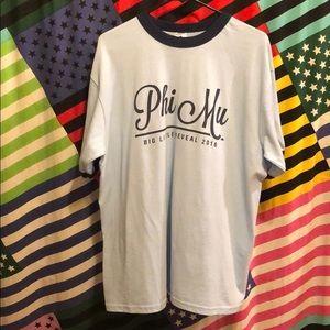 Blue Phi Mu Big Little Reveal T-Shirt w Navy Trim!